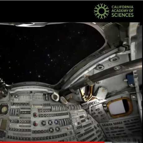A planetarium programs specialist guides you in a virtual spacecraft.