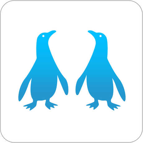 Pocket Penguins iPhone app icon with two stylized penguins