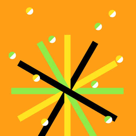 abstract asterisk graphic