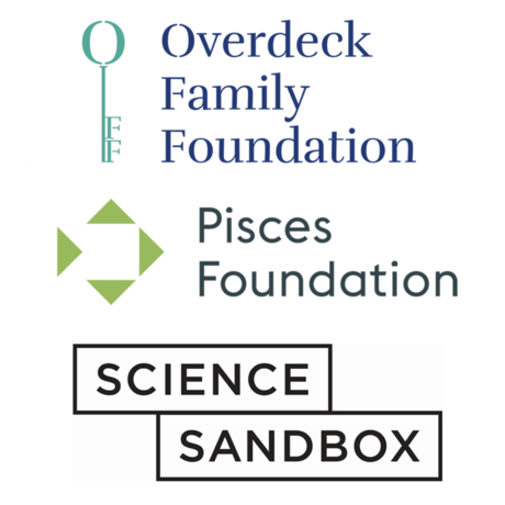 pisces, overdeck, and science sandbox logos
