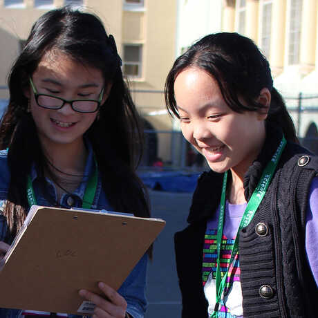 Presidio youth making observations
