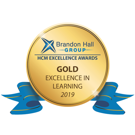 2019 Gold Award for Excellence in Learning from the Brandon Hall Group
