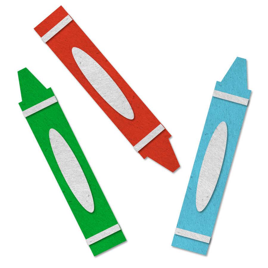 Felt crayon icon
