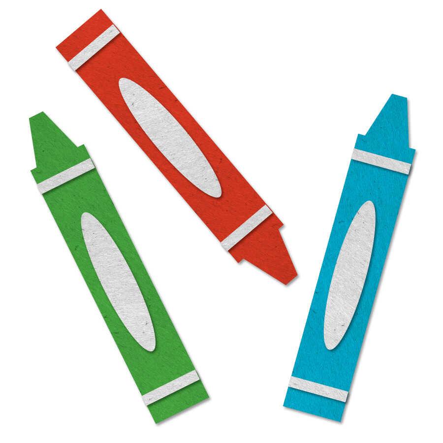 Felt crayons icon