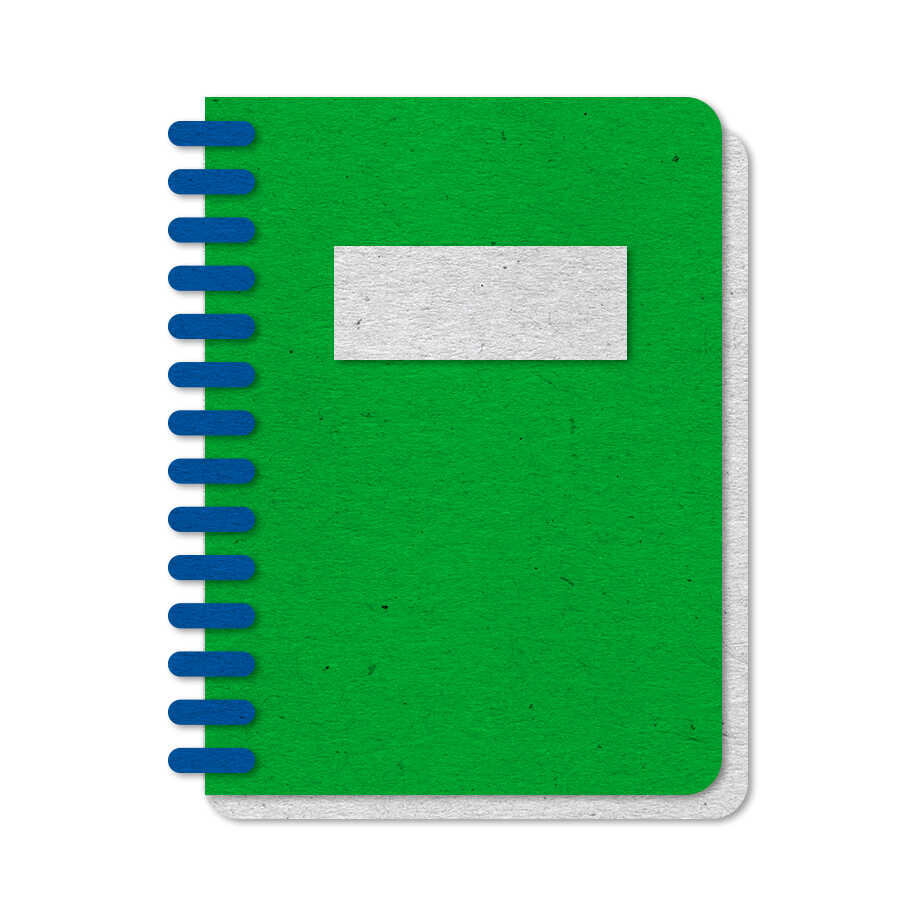 Green felt notebook icon