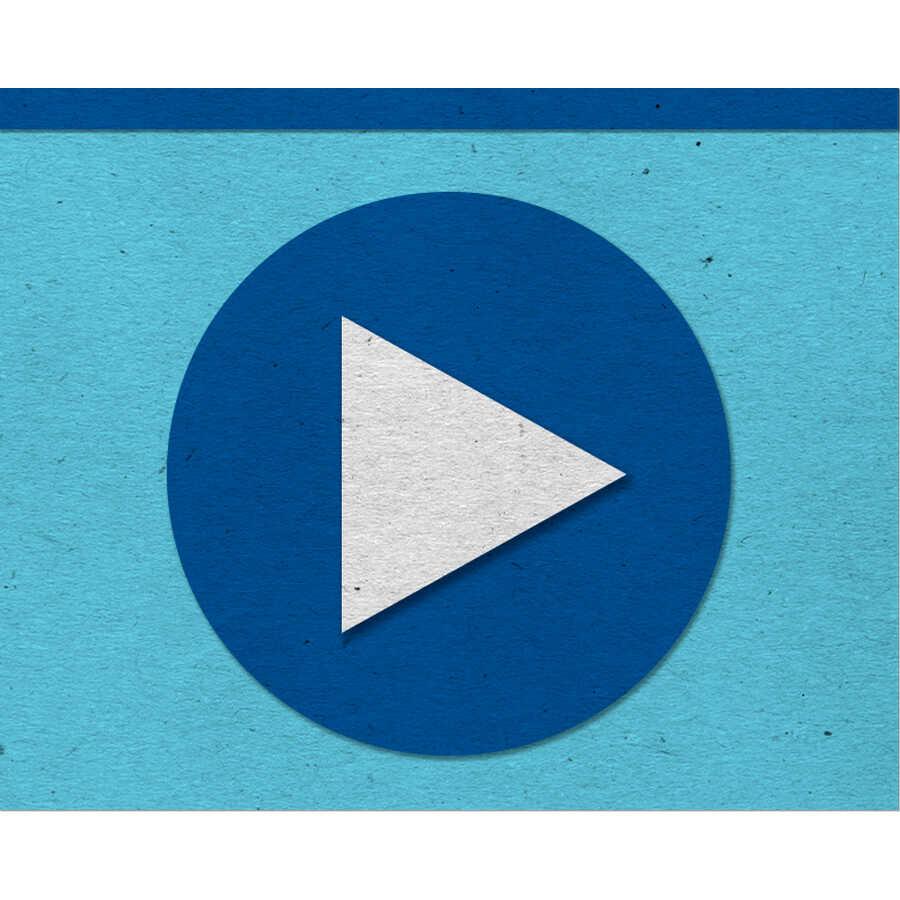 Felt video play button icon