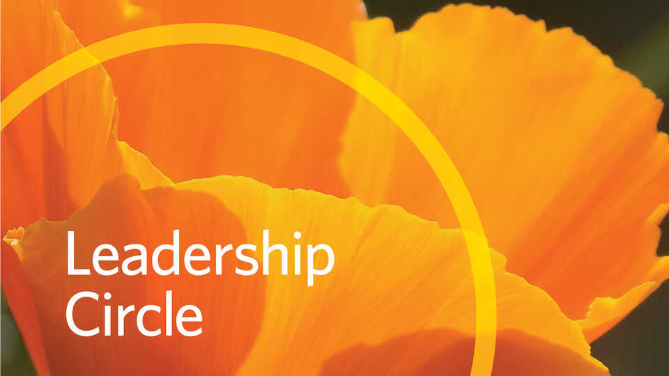 Leadership Circle banner image with orange poppy