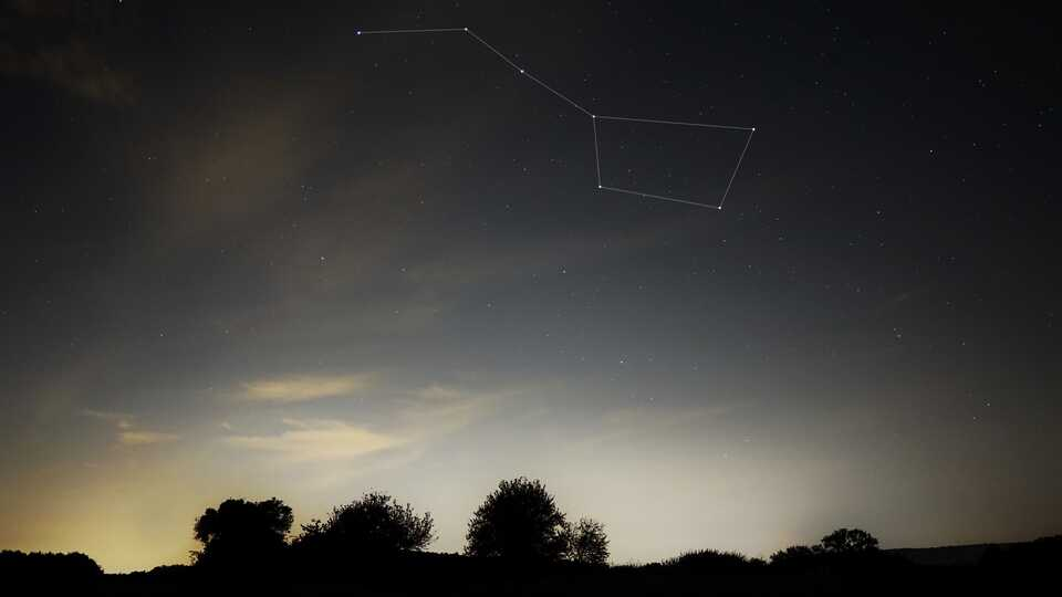 Big Dipper outlined in night sky